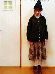 いいね! save! follow! ありがとうございます♡ この丈感のスカート好きです(*´-`)