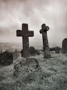 Misty moors. Widecombe in the moor. Dartmoor, Devon.