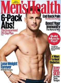 Nfl'S danny amendola shows off ripped abs for 'men's health' Men's Health Magazine, Fitness Magazine, Danny Amendola, Build Muscle Fast, Beat Diabetes, Basketball Workouts, Logo Design, Daily Health Tips, Athletic Men