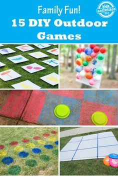15 DIY Outdoor Games for families