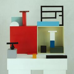 Sculpture by Nathalie Du Pasquier, used on the cover of Disegno magazine No. 6