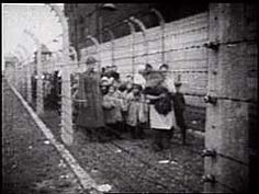 Historical Film Footage Children's Liberation of Auschwitz- 1945