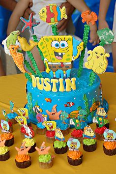 #Spongebob #cake Going to try this for Josef's Bday