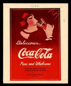 """Antique 1914 """"Coca Cola"""" Early 100 Years Old Life Magazine Print Ad 