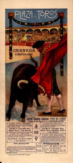 Plaza de toros : Granada Corpus 1915 , Angel de la Fuente