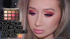 Too Faced Just Peachy Mattes Tutorial Too Faced Just Peachy, Makeup Looks For Brown Eyes, Too Faced Makeup, Pink Summer, Makeup Goals, Pretty Makeup, Cosmetology, Makeup Collection, Eye Makeup