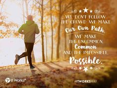 Don't follow the crowd this #Wraptober, blaze a trail for yourself! It's the #ItWorksWay to make the impossible, POSSIBLE !