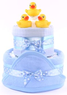 nappy cake Blue