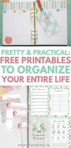 All of these planner printables are so pretty and useful for my organization binder. Great ideas and motivation to stay on track and organized. The daily and weekly spread in the first one was the best in my opinion. #plannerobsessed #plannergirl #printable