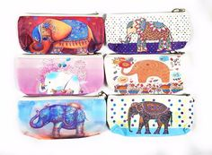 Fashion Cute Elephant Novelty Makeup Cosmetic Pouch Bag Zipper Pencil Pen Case  #Unbranded