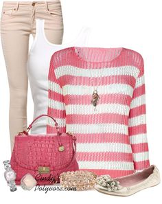 """Think Pink!!!"" by cindycook10 on Polyvore"