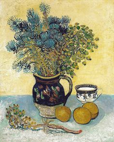 alongtimealone:    Vincent van Gogh - Still Life, 1888 at the Barnes Foundation Philadelphia PA (mbell1975)