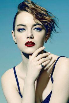 Emma Stone wearing Established Jewelry Cherry Stud Earrings