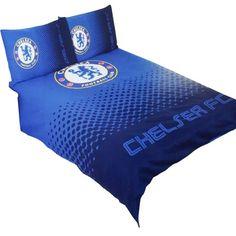 Chelsea FC Official Fade Reversible Football Crest Double Duvet Set (Double Bed) (Blue)