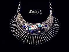 <Sunlight Necklace>  Materials used;stainless steel wire,rhinestone,colored beads