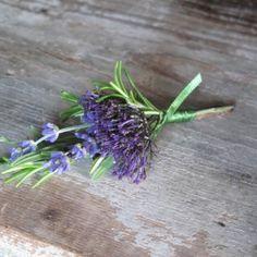 small lavender boutonniere