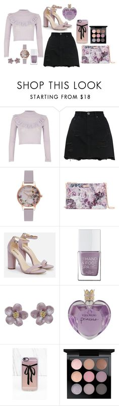 """Sun Mere Humsafar x"" by itsnotme-484 ❤ liked on Polyvore featuring River Island, Olivia Burton, Ted Baker, JustFab, The Hand & Foot Spa, Vera Wang, Casetify and MAC Cosmetics"