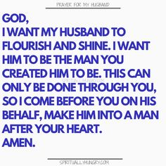 for my husband is something that we should always be doing as it helps us to see our husband with fresh eyes. Keep your marriage on track and your appreciation for your hubby in check with these prayers. Prayer for family is always a very good thing! Marriage Prayer, Godly Marriage, Godly Relationship, Happy Marriage, Marriage Advice, Love And Marriage, Relationships, Couples Prayer, Relationship Repair