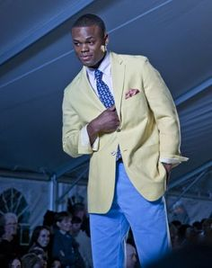 """Posted by: Stephanie Granada, February 10, 2012 in Alabama , Fashion , Style   Southern Proper, photo courtesy © Chuck St John 2012     Southern Proper sent sassy boys prancing down the runway in colorful prep wear and their signature touch of haberdashery accessories, with """"Son Of A Preacher Man"""" and """"Let's Hear it For the Boy"""" setting the pace."""