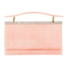 Pre-Owned Judith Leiber Clutch (510 NZD) ❤ liked on Polyvore featuring bags, handbags, clutches, purses, accessories, coin purse, leather change purse, change purse, pink clutches and pink coin purse