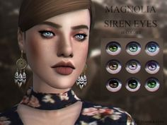Realistic eyes  Found in TSR Category 'Sims 4 Female Costume Makeup'