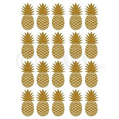 Pineapples Set of 20 wall pattern decal vinyl stickers (Gold) ❤ Wall Sayings Vinyl Lettering Wall Stickers Murals, Wall Decals, Vinyl Decals, Locker Mirror, Gold For Sale, Gold Walls, Used Vinyl, Wall Patterns, Vinyl Projects