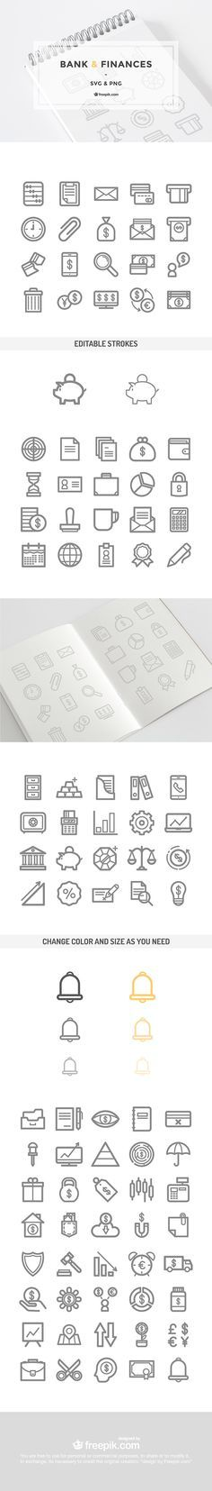 80 free bank and finances icons SVG & PNG set