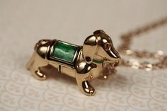 Dachshund Dog Locket Necklace