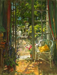 """""""English Susan Ryder Royal Society of Portrait Painters. Has painted interiors, outdoors & portraits including the Queen Elizabeth II. Paintings I Love, Beautiful Paintings, Painting Inspiration, Art Inspo, Oeuvre D'art, Painting & Drawing, Still Life, Illustration Art, Illustrations"""