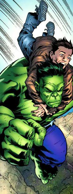 Hulk and Rick Jones by Leonard Kirk