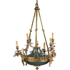 French Empire Style Bronze Patinated Chandelier - French Empire Style Bronze Patinated Chandelier