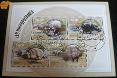 No. 805   víziló   bélyeg   hippo   stamp