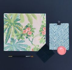 On the moodboard: Bamboo Garden - LF1987C/1 Salta - LF1974C/2 and Tango Velvet in Ocean Drive - LF1990FR/27.   #moodboard #interiordesign #interiorinspiration #linwoodfabric