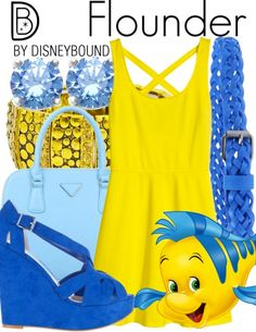 Disneybound - Flounder outfit (The Little Mermaid) Disney Bound Outfits Casual, Cute Disney Outfits, Disney Themed Outfits, Disney Inspired Fashion, Character Inspired Outfits, Disney Dresses, Cute Outfits, Disney Fashion, Disney Clothes
