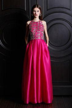 Naeem Khan #gown #pink #embellished