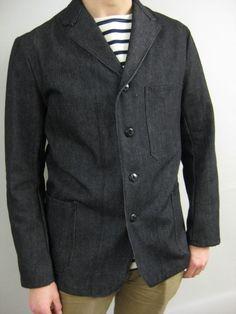 Black Denim Work Jacket (JA105)