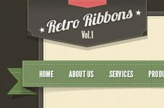 A complete set of retro and vintage web menu ribbons, retro social icons, vintage web buttons. Ideal to create a vintage...