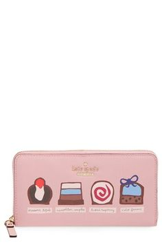 Free shipping and returns on kate spade new york 'cedar street - chocolates lacey' zip-around wallet at Nordstrom.com. If a balanced diet is chocolate in both hands, kate spade has got you covered with this fabulous zip-around wallet featuring a line-up of pretty cocoa creations on a sweetly pink faux-leather exterior.