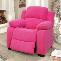 Viv + Rae Cinco Bayou Kids Recliner with Storage Compartment Color: Pink