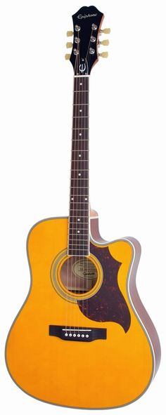 Epiphone 2014 FT-350SCE Min-Etune Acoustic/Electric Antique Natural EE35SCERANNH | L.A. Music