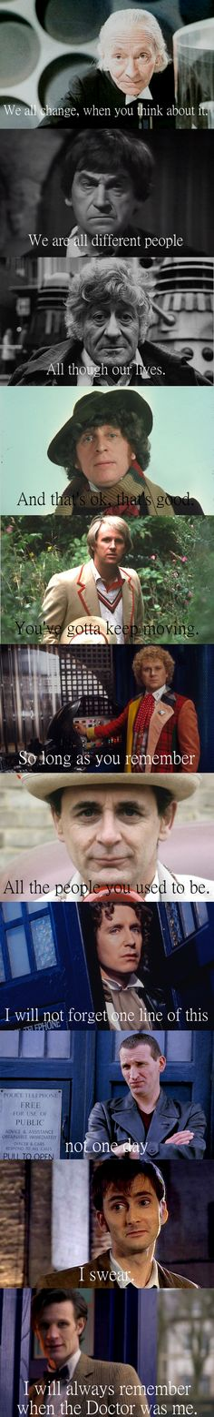 Doctor Who: I'll always remember when the Doctor was me. #doctorwho #eleventhdoctor