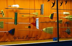 Cole Hardware in San Francisco takes a spin on the witch-on-a-broomstick theme with this Halloween window display. Photo by Noelle Nicks A mannequin in this display would have made it even more impactful: Halloween Window Display, Spring Window Display, Window Display Design, Store Window Displays, Halloween Displays, Display Windows, Retail Displays, Retail Windows, Store Windows