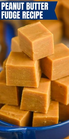 This Easy Peanut Butter Fudge is only four ingredients and comes together in about five minutes! You need this peanut butter fudge recipe in your life.