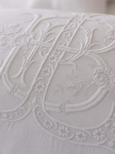 Antique French embroidery..love