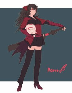 She can be an awful mother, but I have to admit that she has style Rwby Anime, Rwby Fanart, Rwby Raven, Character Art, Character Design, Red Like Roses, Rwby Volume, Rwby Ships, Team Rwby
