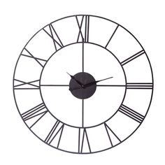 Reloj negro industrial de metal ...