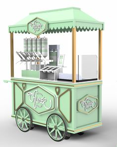 A vez do churro gourmet Kiosk Design, Cafe Design, Coffee Carts, Coffee Shop, Foodtrucks Ideas, Food Cart Design, Coffee Trailer, Bike Food, Sweet Carts