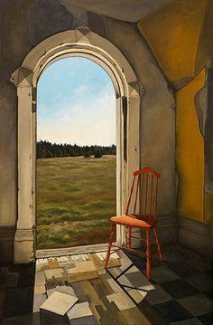From the Livingstone/Stephens Farm in Muskoka... 24x36 painting, Michelle Basic Hendry