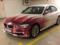 BMW Driver's Offensively Painted Car Will Make You Bloody Angry  ... see more at InventorSpot.com