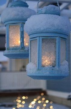 Beautiful Winter Wonderland Lighting Ideas For Outdoor And Indoor Decor 23 I Love Snow, I Love Winter, Winter Snow, Winter Christmas, Christmas Lights, Winter Colors, Holiday, Winter Scenery, Winter Magic